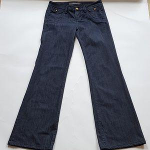 Level 99 Anthropologie 28 Wide Leg Dark Wash Jeans